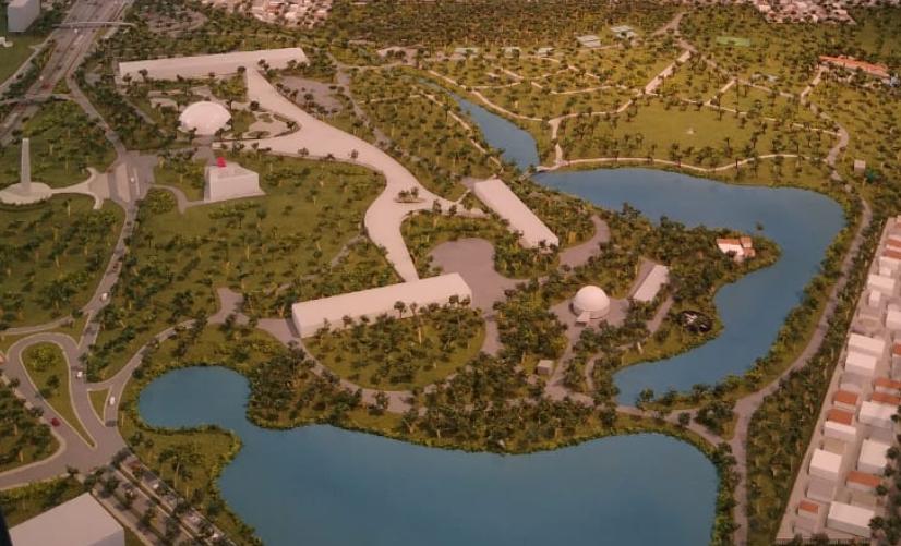 Imagem aérea do Parque Ibirapuera, em São Paulo